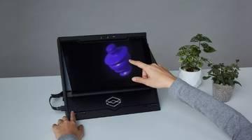 HoloPlayer One позволяет вам взаимодействовать с 3D-голограммами