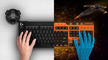 Logitech и HTC разработали клавиатуру для VR