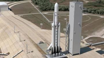 В SpaceX провели испытания двигателей Falcon Heavy