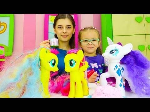 Ютьюб видео для детей. Игры для девочек готовим еду с Рарити (май литл пони)