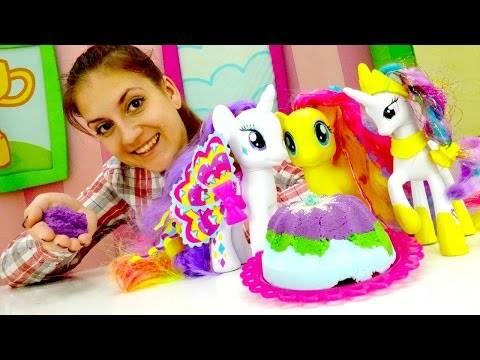 Детские игры для девочек: Литл пони Селестия и праздничный стол. Игра готовить еду для девочек
