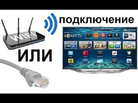 Подключение телевизора к Интернету с помощью сетевого LAN кабеля и Wi Fi